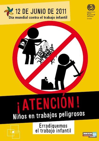 affiche contre le travail infantil