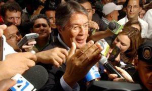 Candidat de l'opposition Guillermo Lasso