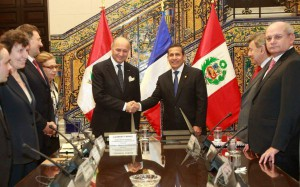 Laurent Fabius et Ollanta Humala