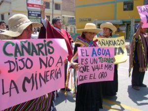 Communauté Cañaris contre le projet minier
