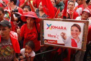 partisans de Xiomara Castro de Zelaya