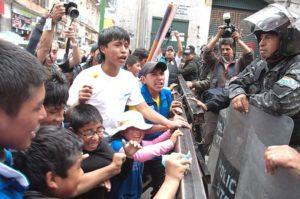 Protestation d'enfants contre la réforme du Code du travail