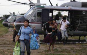 Évacuation de sinistrés par hélicoptère