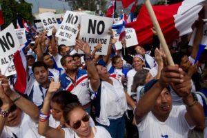 Manifestation contre la fraude électorale