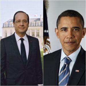 Les présidents François Hollande et Barack Obama