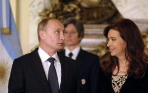 Vladimir Poutine avec la présidente argentine Cristina Fernández de Kirchner