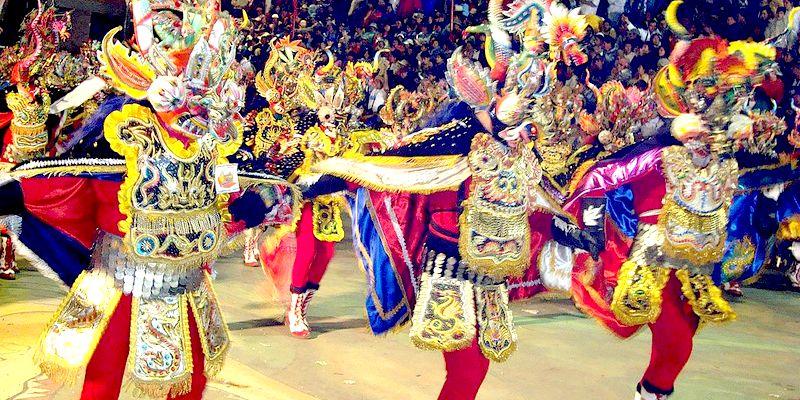 Diablada Ferroviaria in the Carnival de Oruro, Bolivia, 2009